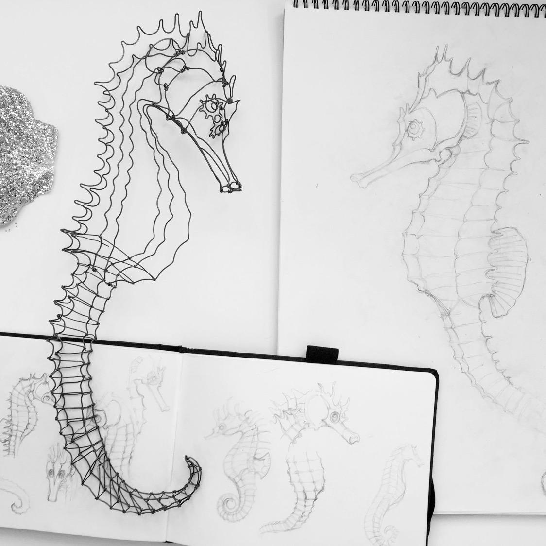 hippocampe en cours de réalisation