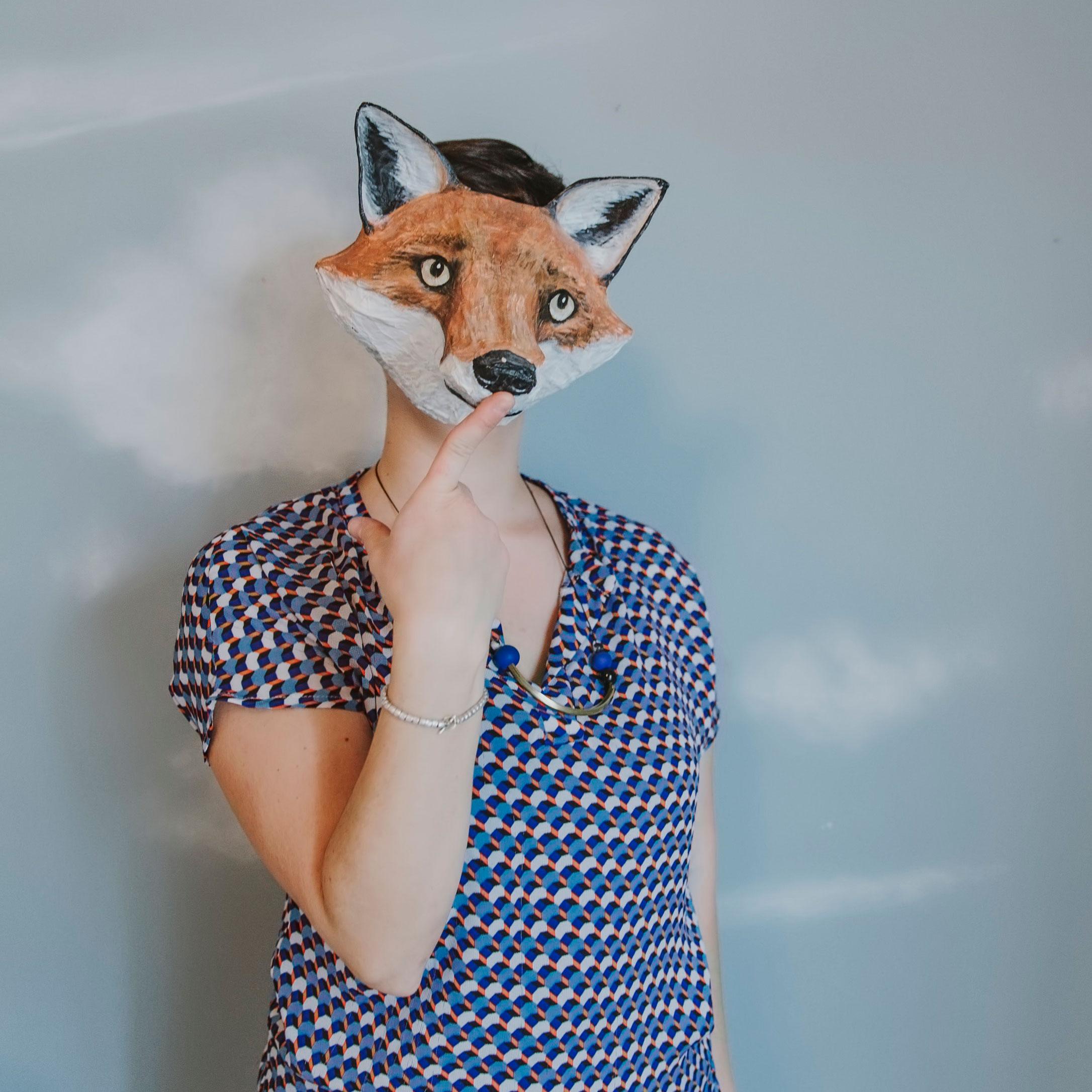 Portrait à la tête de renard