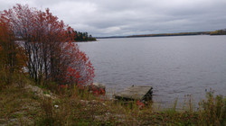 The lake in the fall