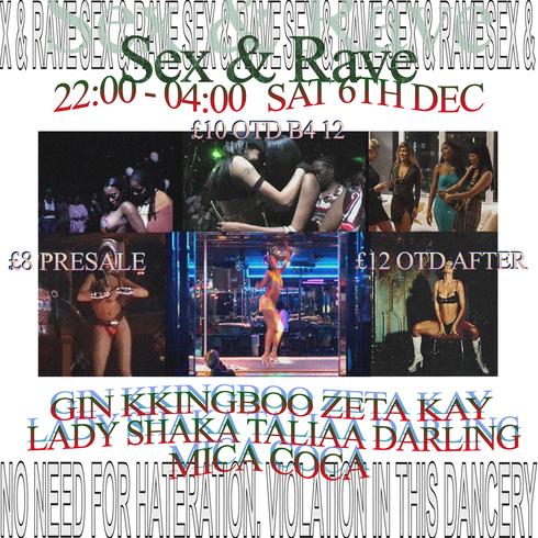 Sex & Rave Flyer