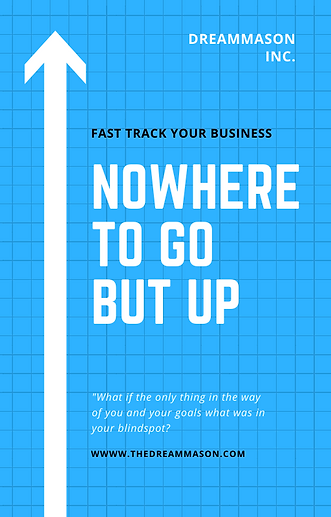 Blue White Arrow Grid Simple Business Bo