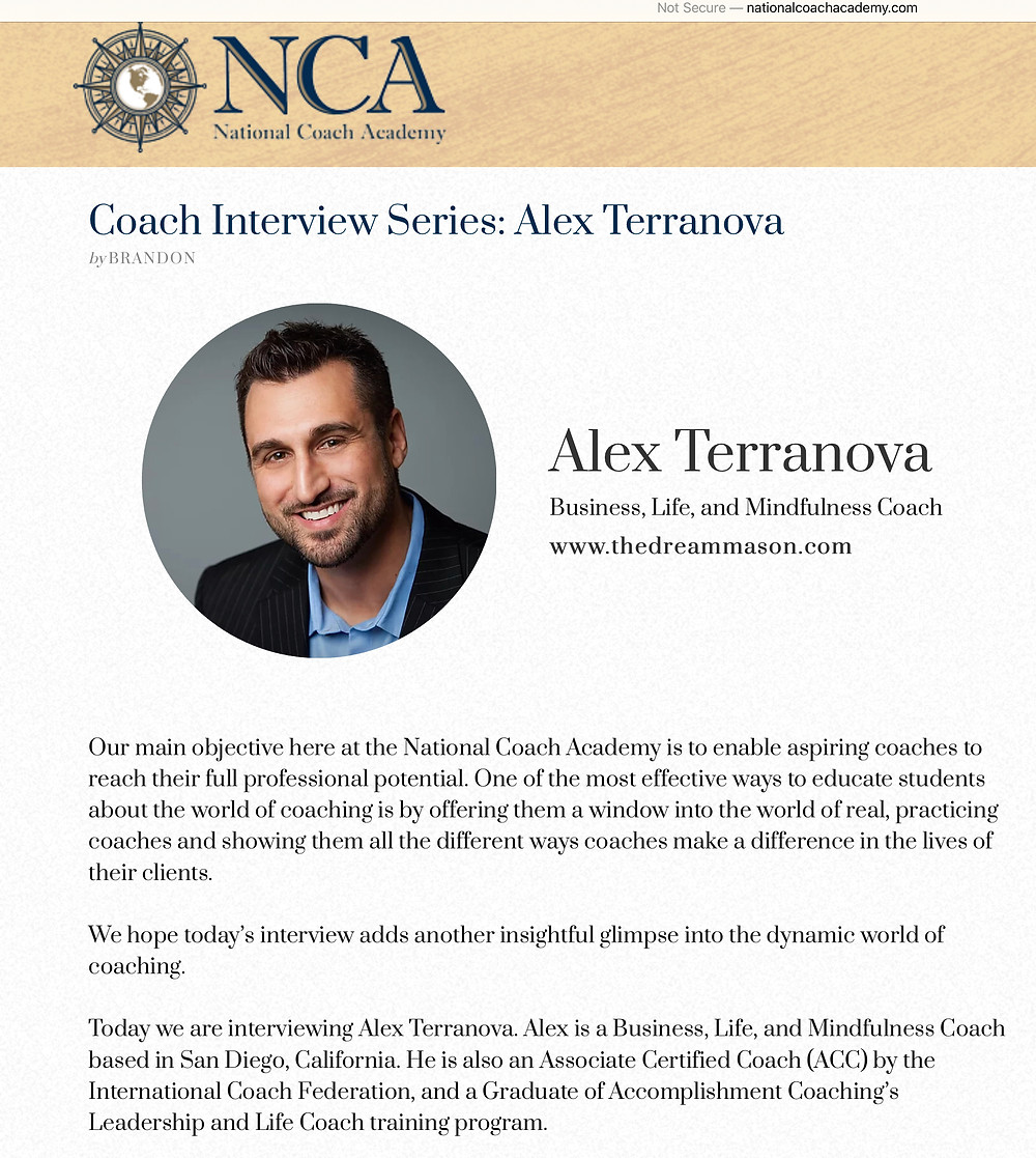 Coach Interview Series National Coach Academy Alex Terranova