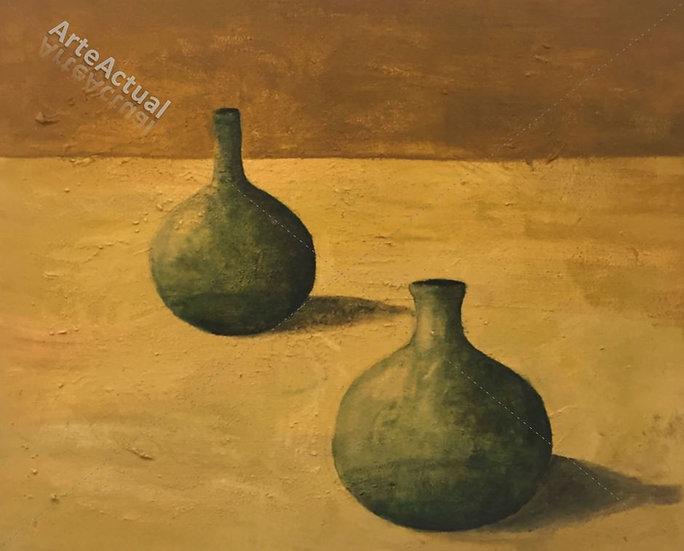 Dues ampolles i les seves ombres