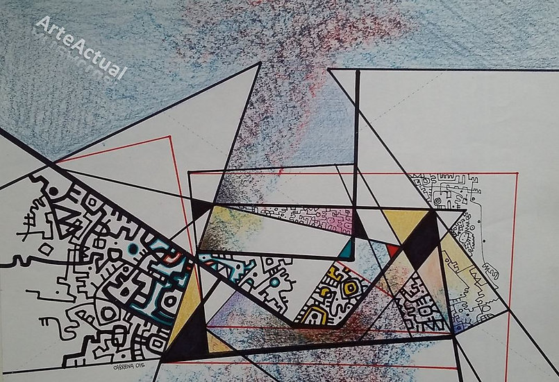 Universos geométricos con planos amarillos