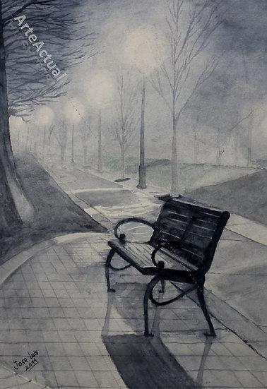 Bruma en el parque