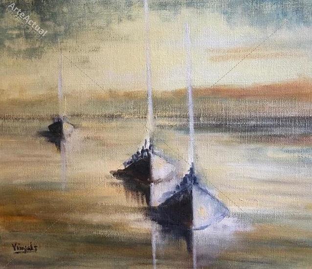 Tres veleros