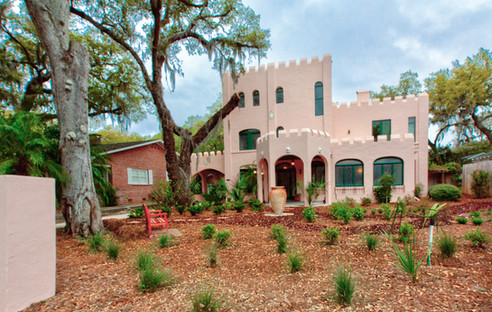 Built in 1922, The Pink Castle was designed by sculptor C. Adrian Pillars as his own home and studio.