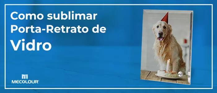 Porta-retrato de vidro