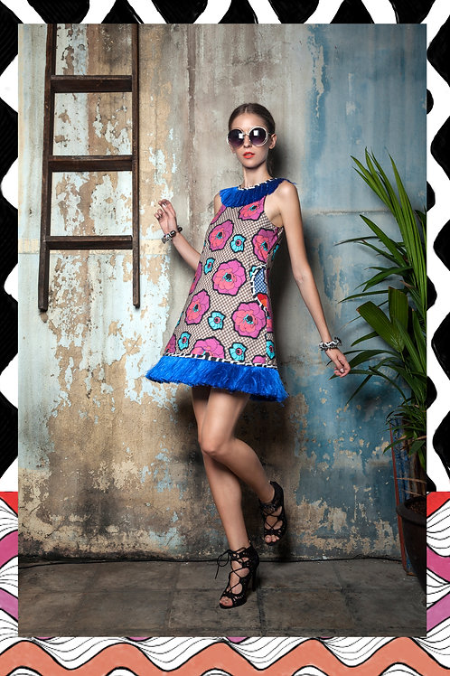 Afro Flower Tassle Dress