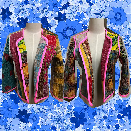 Quilted Patchwork Reversible Jacket S