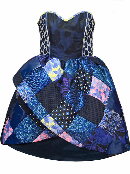 Patchwork Prom Dress
