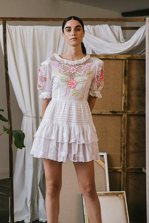 Adelfa Dress White