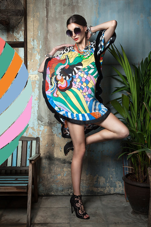 Psychedelic Rainbow Tassels Dress