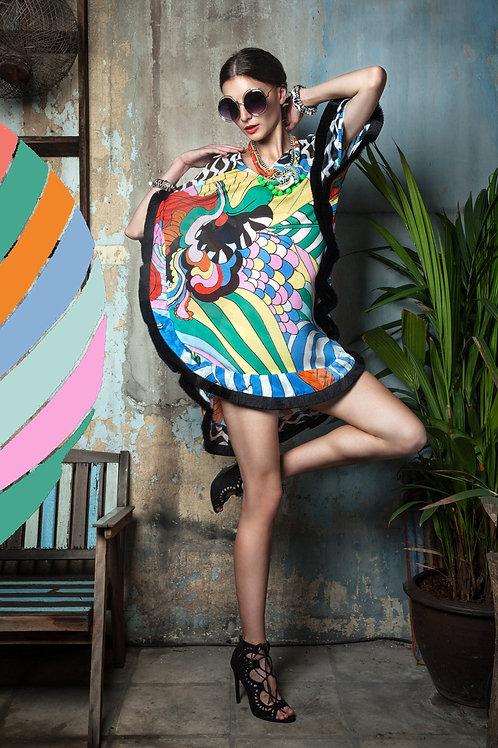 Psychedelic Rainbow Tassels Dress