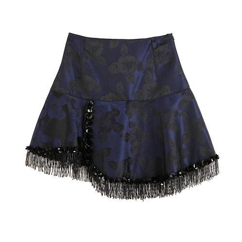 Jacquard Tassle Skirt