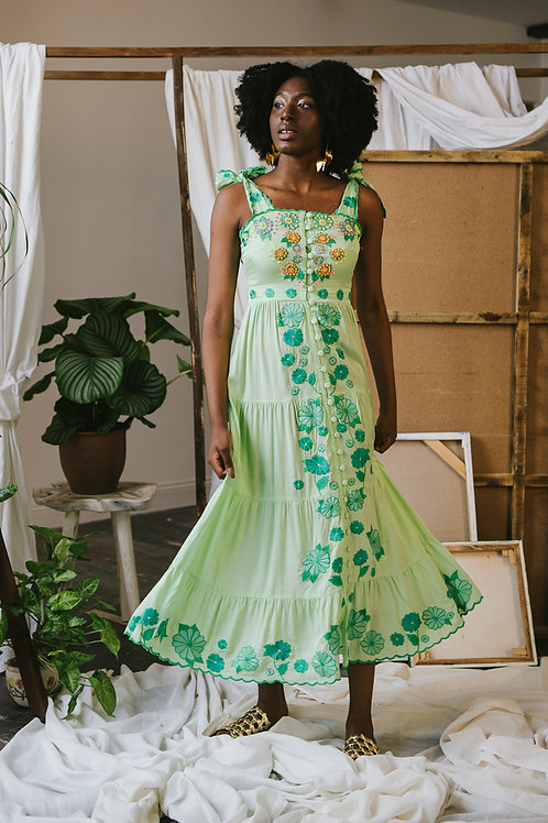 Canela Dress Green