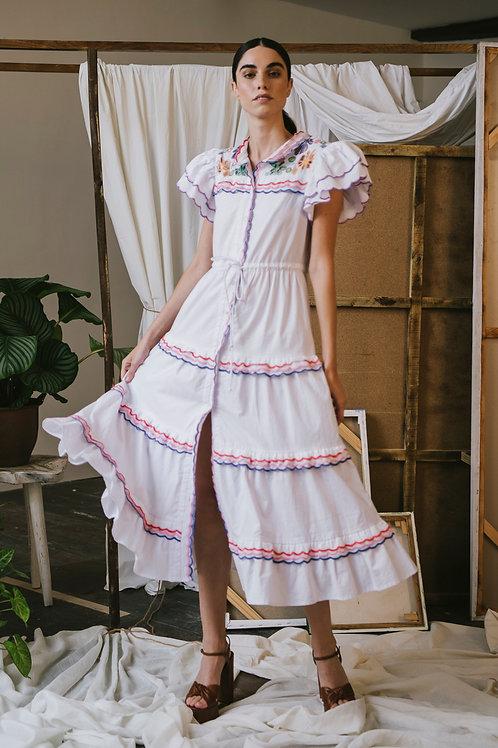 Silene Dress White