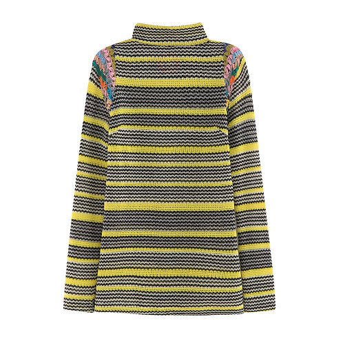 Multi Knit Turtle Neck Yellow