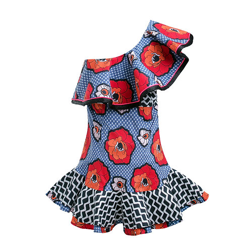 Ruffle Afro Flower Dress