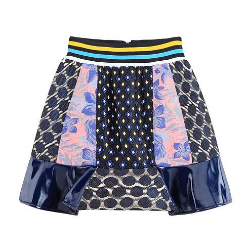 Multi Panel Mini Skirt