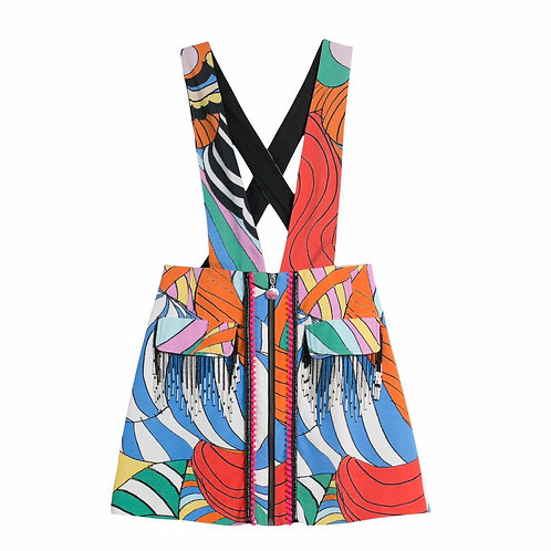 Psychedelic Rainbow Skirt