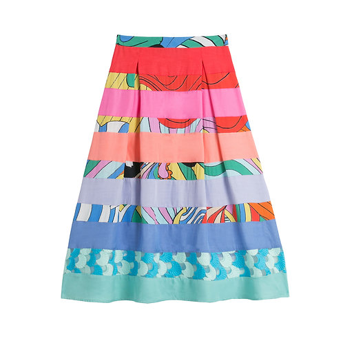Psychedelic Rainbow Skirt