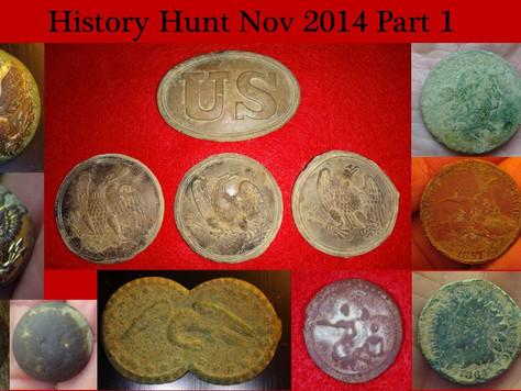 History Hunt Metal Detecting - November 2014 - Part 1 Highlights