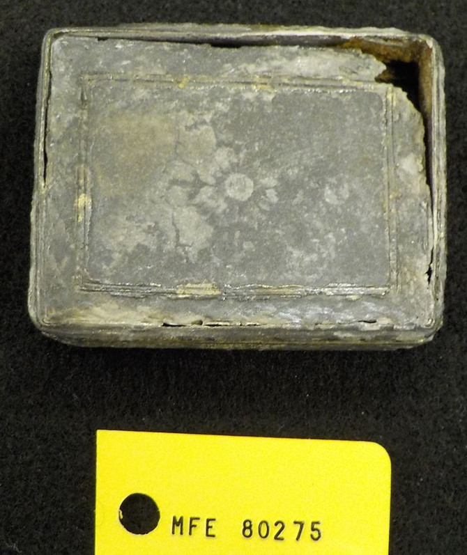 Gold gilt silver box found on Douglass Beach site