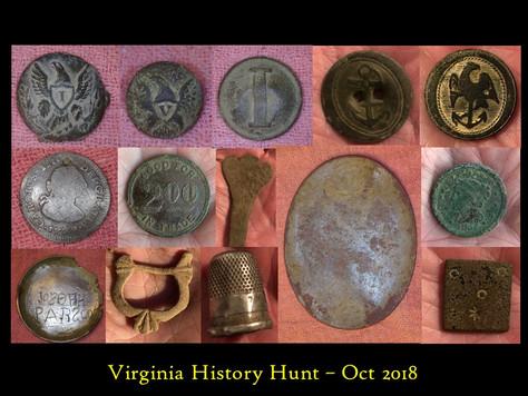 Virginia History Hunt October 2018 Highlights