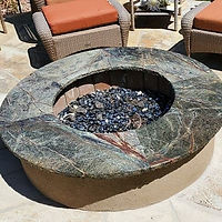 Outdoor fire pit made of leftover materi
