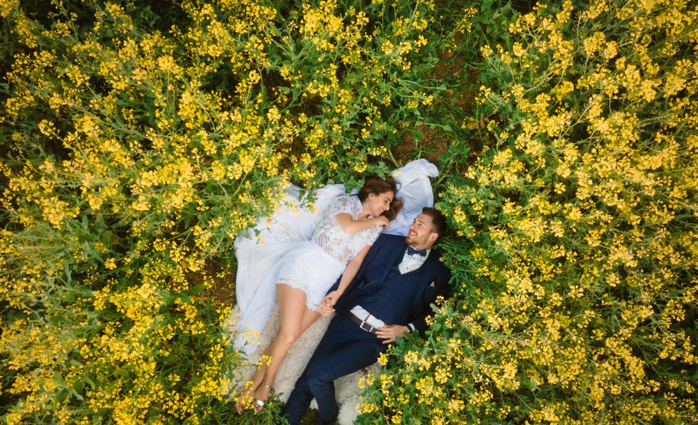 Hochzeit Luftaufnahmen Drohne