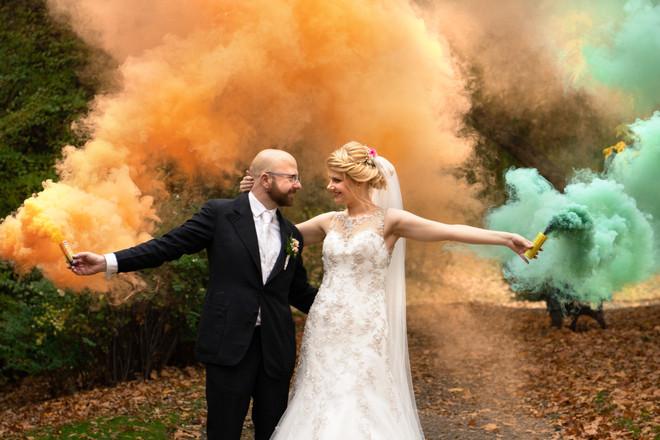 Hochzeit mit Rauchfackeln | Bochum