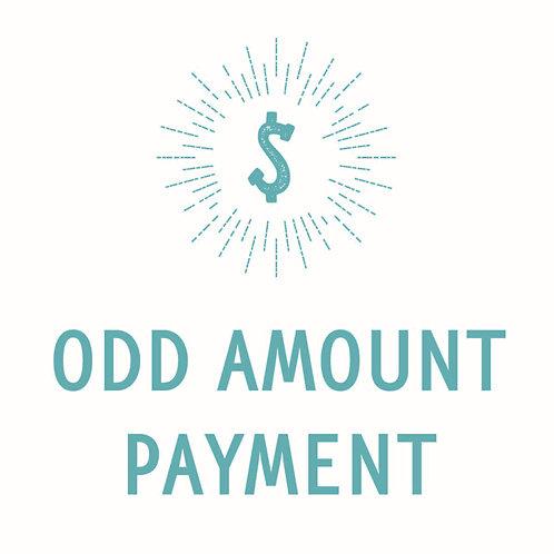 Odd Amount Payment