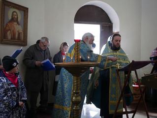 Молебен в Благовещенской часовне в Котельниках