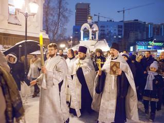 Крещение Господне в Преображенском храме г. Люберцы