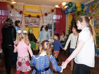 Поздравление с Рождеством детишек социального приюта в Томилино