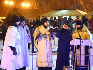 Праздник Крещения в Наташинском парке города Люберцы