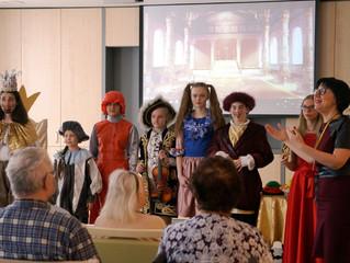 Детский спектакль в гериатрическом центре «Малаховка»