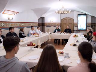 Беседа с молодежью в Преображенском храме г. Люберцы