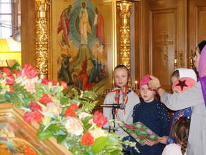 Детский молебен в Кореневе