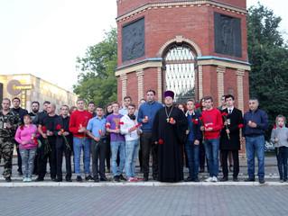 Траурное шествие в Люберцах в память о начале Великой Отечественной Войны