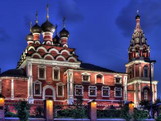 Включение архитектурной подсветки храма Казанской иконы Божией Матери