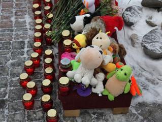 Панихида в Котельниках по погибшим во время пожара в Кемерово
