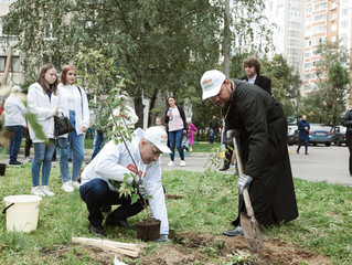 Акция «Наш лес. Посади своё дерево» в Люберцах