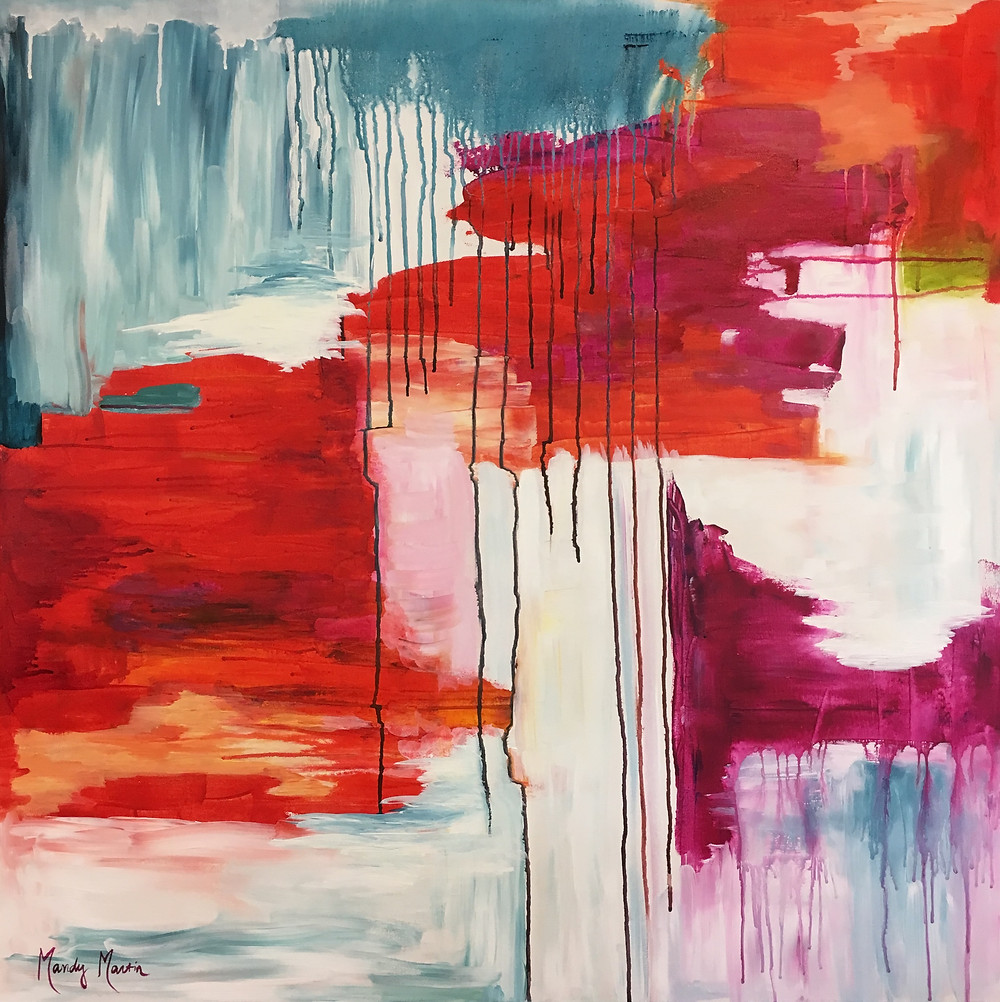 Artist Mandy Martin created this freeform exploration of color and paint as a celebration of the process of making art.