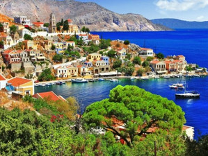 Сими - маленький многонациональный остров в Греции