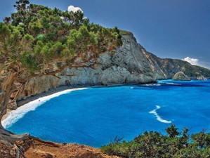 Пляж Порто Кацики - самая чистая вода в Греции