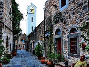 Средневековая деревня на острове Хиос