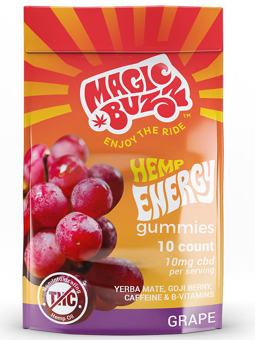 Grape Flavor - Hemp Energy Gummies
