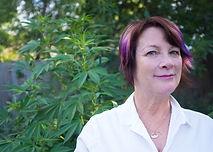 sara conrad with marijuana plants